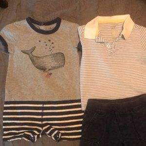 Other - 3 pc set polo shirt, onesie, and shorts!